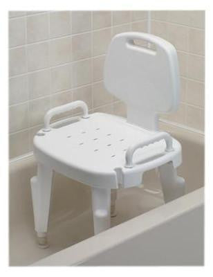 Adjustable Shower Seat w/ Arms and Back