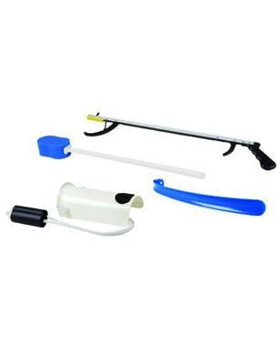 "FabLife Hip Kit: 26"" Reacher, sponge, sock aid, 18"" shoehorn"