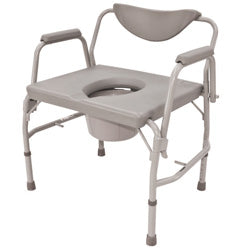 "Roscoe 24"" Heavy Duty Drop-Arm Commode (600 lb. Weight Capacity)"
