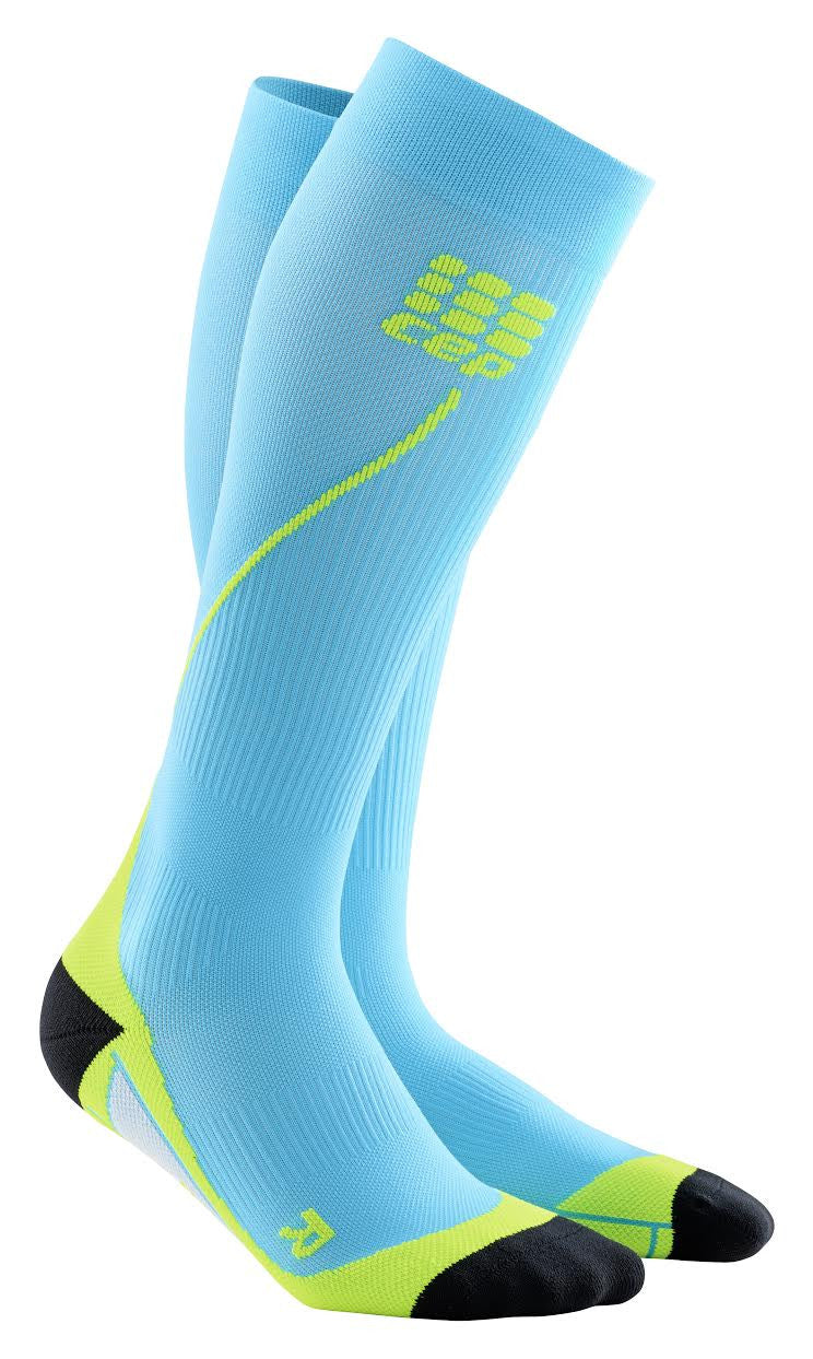 Pro+ Run Compression Socks 2.0 Blue Green Men