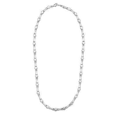 d93892117 Diamond Essence Bamboo Necklace with 9.25 cts.t.w. of Round Brilliant Stones  - SNE1659