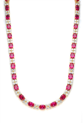 e8cf02d01 Diamond Essence Designer Necklace with Oval cut Ruby and Round Brilliant  Stones, 72.0 cts.