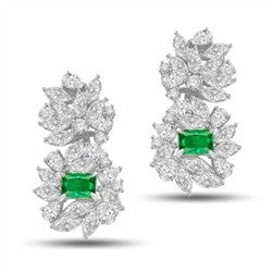 979a49d10 Diamond Essence Designer Earrings with Classic Combination of Emerald cut  Emerald, Round Brilliant, Pear and Marquise Stones, 6.50 cts.t.w. - WED265E
