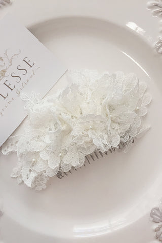 Bespoke french lace ivory comb for Jessica K.