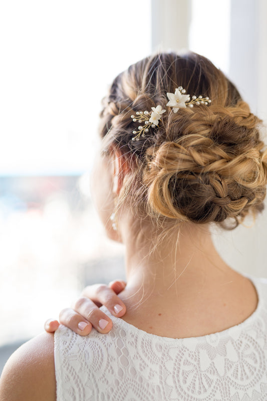 JASMINE HAIR PINS | Vine Bridal Hair Pins with Crystals & Pearls