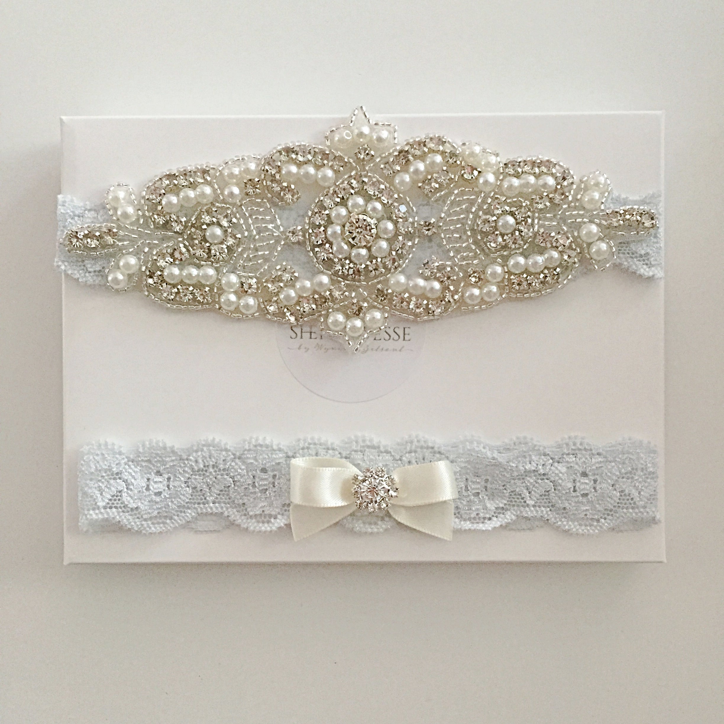 wedding garter australia, blue wedding garter sydney, something blue wedding, lace bridal garter australia, blue lace garter set, pearl crystal wedding garter set