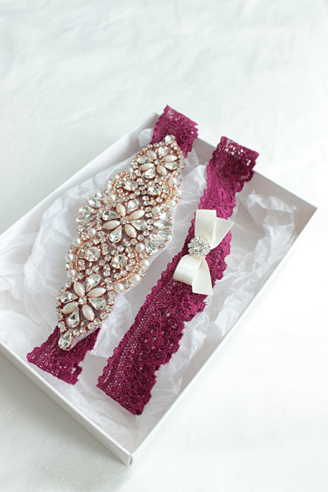 burgundy wedding garter,burgundy rose gold wedding,lace garter set,crystal wedding garter,luxury garter,luxury wedding,burgundy blush lace garters, pearl wedding garter,blush underlay wedding gown,wedding lingerie,bridal boudoir shoot,bridal lingerie,wedding lace,bow garter,rose gold wedding garter,strumpfband,jarretiere mariage,wedding garter and bridal accessories australia
