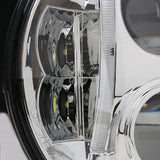 7 Inch LED Headlight Black Round Halo ADR Approved