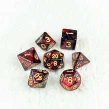 Load image into Gallery viewer, Black & Blood Dice Set- Free US shipping! - Tabletop Artisans