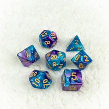Load image into Gallery viewer, Indigo Lake Dice set- Free US shipping! - Tabletop Artisans