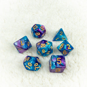 Indigo Lake Dice set- Free US shipping! - Tabletop Artisans