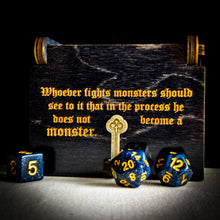 "Load image into Gallery viewer, Limited Edition: Philosopher's Box ""Fighting Monsters"" -Dice box - Tabletop Artisans"