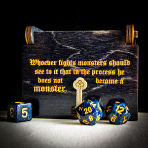 "Limited Edition: Philosopher's Box ""The abyss"" -Dice box - Tabletop Artisans"