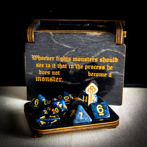 "Limited Edition: Philosopher's Box ""Fighting Monsters"" -Dice box - Tabletop Artisans"