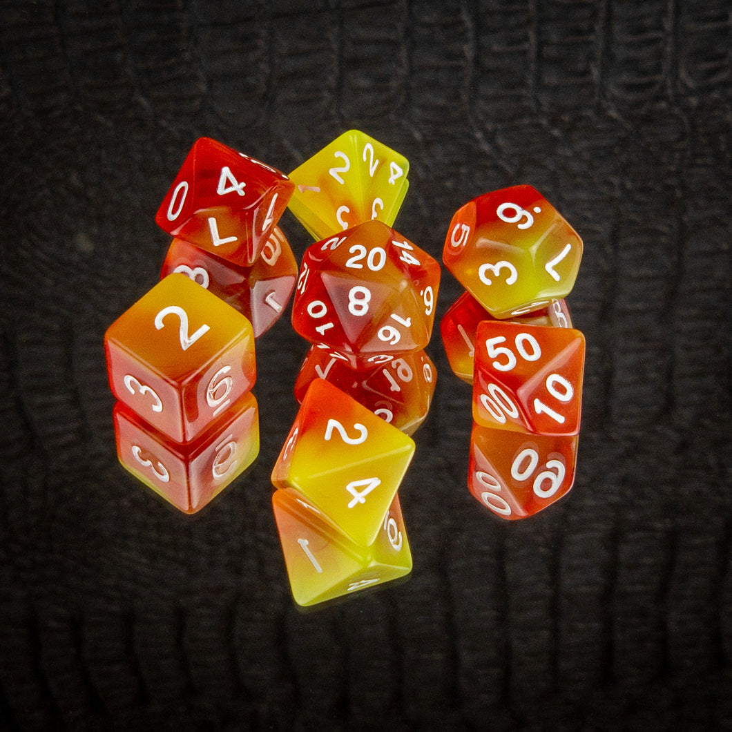 Fire Dice Set- Free US shipping! - Tabletop Artisans