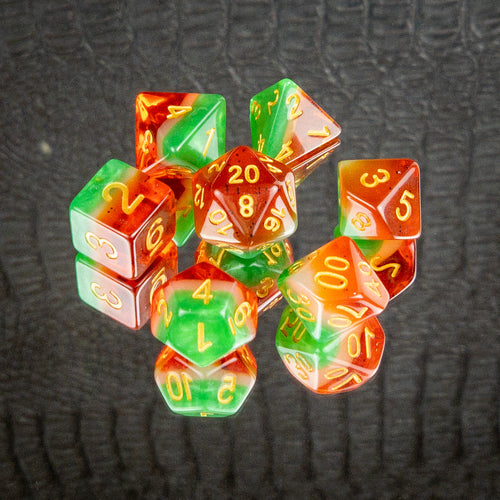 Watermelon Dice Set- Free US shipping! - Tabletop Artisans