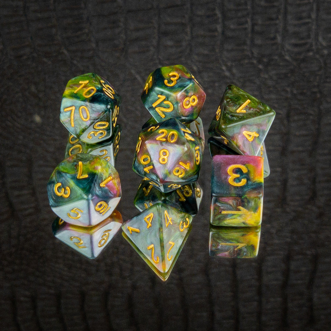 Monet's Palette Dice Set- Free US shipping! - Tabletop Artisans