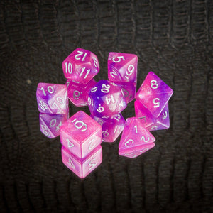 Sinful Petunias Dice set- Free US shipping! - Tabletop Artisans
