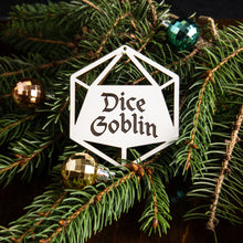 Load image into Gallery viewer, Dice Goblin D20 Ornament - Tabletop Artisans