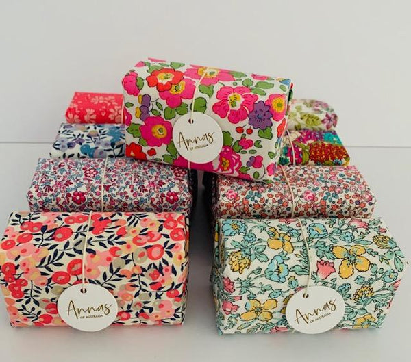 Anna's of Australia Liberty wrapped Soap - Belinda's Store Yamba