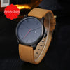 2017 Fashion Casual Mens Watches Top Brand Luxury Leather
