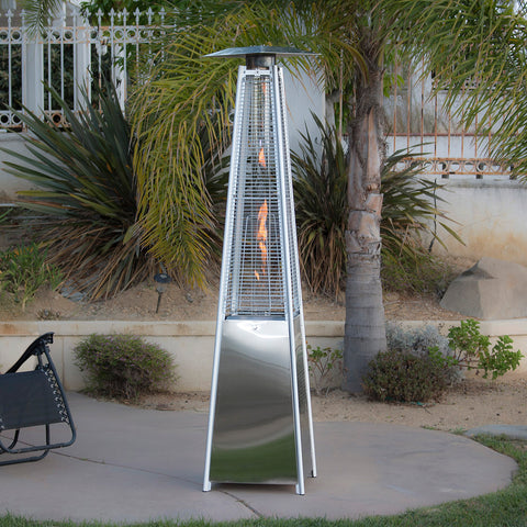 ... Deluxe Outdoor Pyramid Propane Glass Tube Dancing Flames Patio Heater  42,000BTU ...