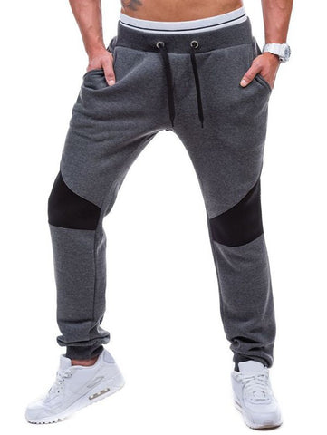 Drawstring Waist Panel Jogger Pants - Price Drop Online