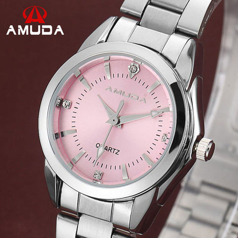 Luxury Brand Quartz Women Watch Pink Ladies Wrist Watches Quartz-watch