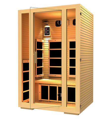 2 Person Infrared Sauna 7 Carbon Fiber Heaters - Price Drop Online