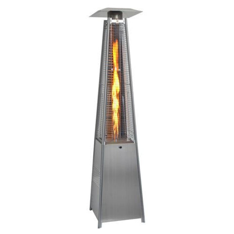 42,000BTU Outdoor Pyramid Propane Glass Tube Dancing Flames Patio Heater