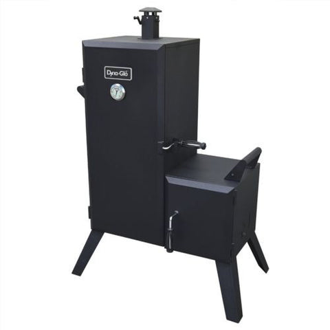 NEW Dyna-Glo Vertical Offset Charcoal Smoker Wood Chips BBQ Grill Cooker Heater