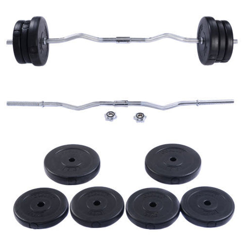 Barbell, Dumbbell Weight Set Gym Lifting Exercise Curl Bar Workout
