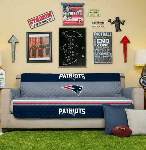 NEW ENGLAND PATRIOTS NFL TEAM SOFA COUCH FURNITURE PROTECTIVE COVER MAN CAVE