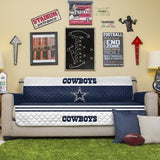 DALLAS COWBOYS NFL Football Team Sofa Couch Furniture Protective Cover Man Cave
