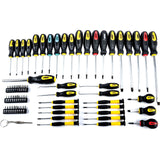 Magnetic Screwdriver set Awls Torx Square Phillips Slotted Bits JEGS 69-pc