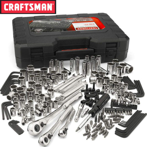 Craftsman 230 pc Silver Finish Standard and Metric Mechanic's Tool Set