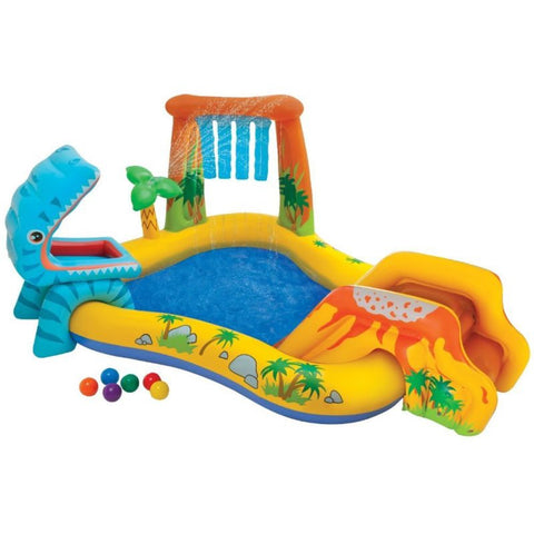 Dinosaur Play Center Inflatable Kids Set & Swimming Pool