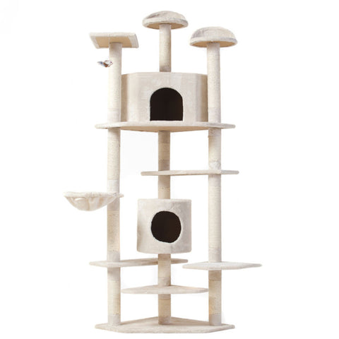 "Cat Tree 80"" Condo Furniture Scratching Post Pet Cat Kitten House High Quality - Price Drop Online"