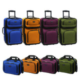 Carry-on Purple Rolling Lightweight Expandable Suitcase & Tote Bag Luggage Set