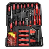Tool Set Case Mechanics Kit Box Organize Castors Toolbox Trolley (599 PC )