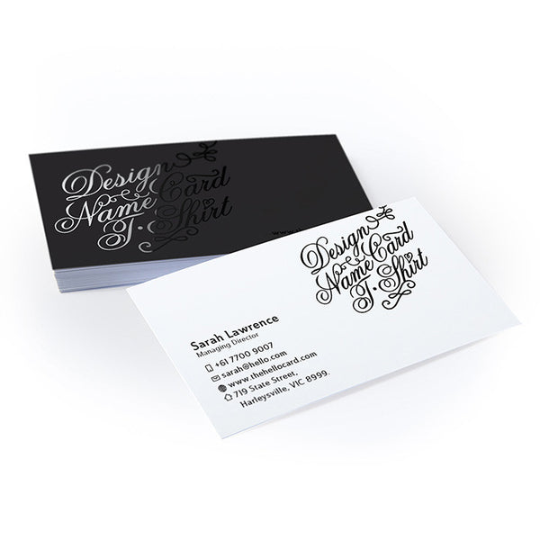 Standard Business Card - 1 side Spot UV (14pt) - thehellocard