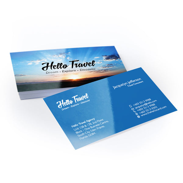 Standard Business Card - Gloss Laminated (14pt) - thehellocard