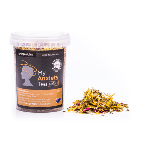 My Anxiety Tea NIGHT 60 Grams (30 Serves) - OrganiTea Australia