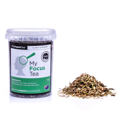 My Focus Tea 60 Grams (30 Serves) - OrganiTea Australia