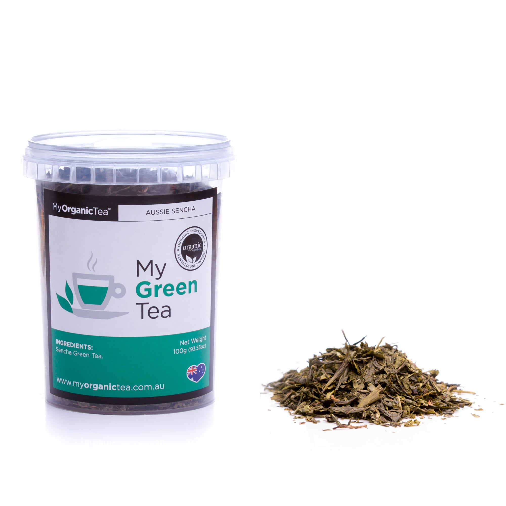 My Green Tea 100 grams (50 Serves) - OrganiTea Australia