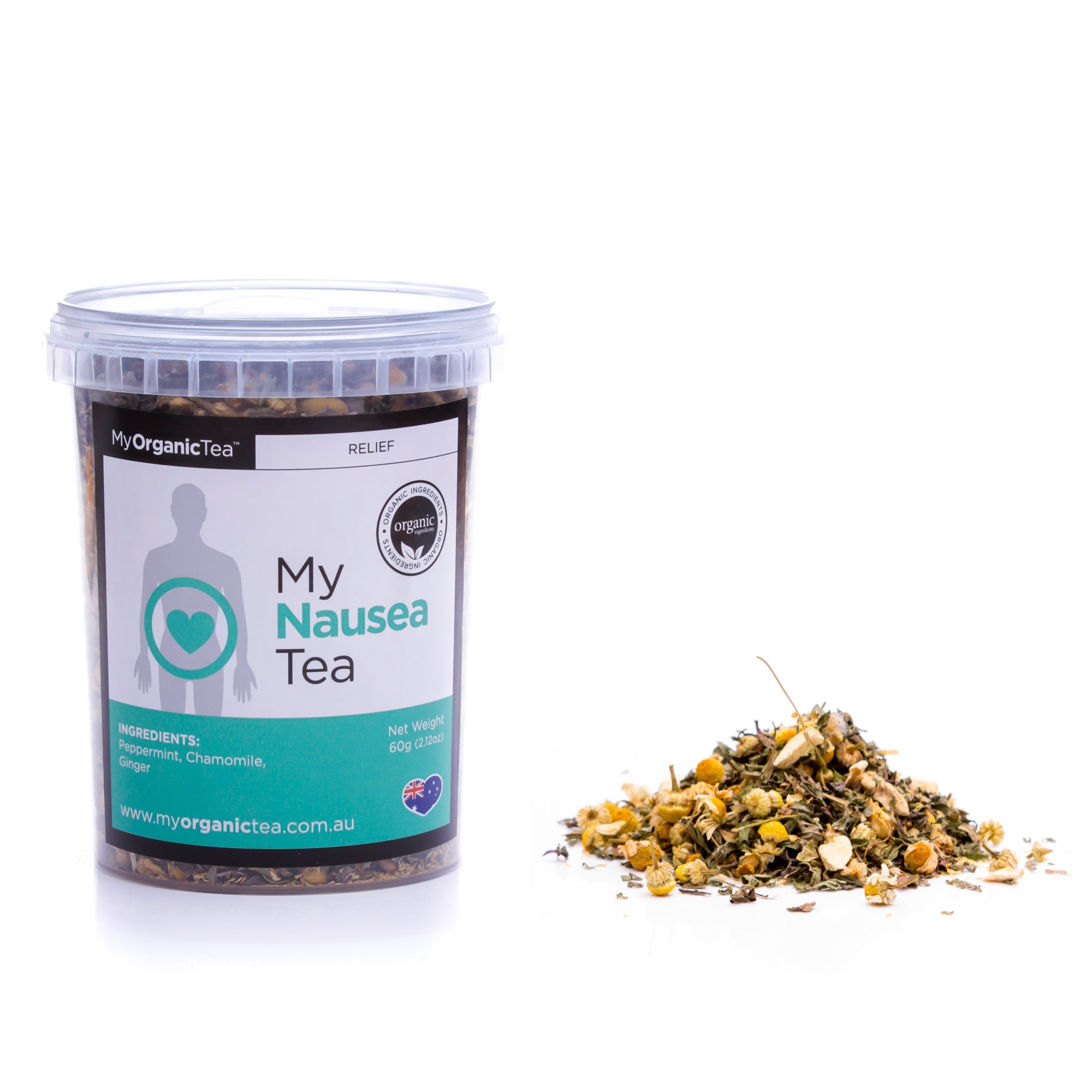 My Nausea Tea 60 Grams (30 Serves) - OrganiTea Australia