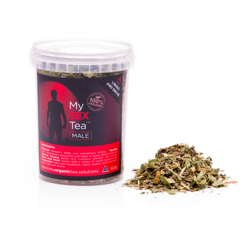 My Men's Sex Tea 60 Grams (30 Serves) - OrganiTea Australia