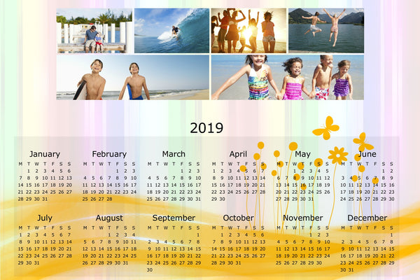 "8x12"" Single Sided Calendar (Landscape)"