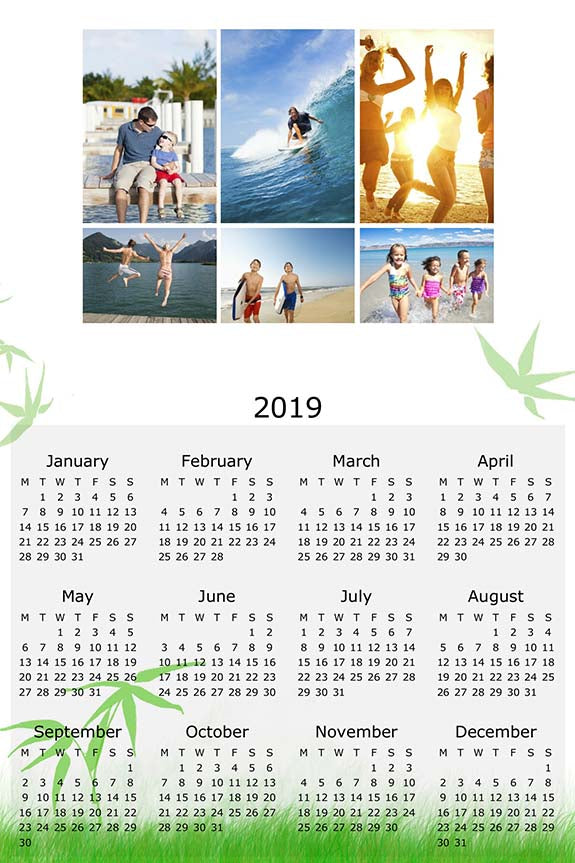 "8x12"" Single Sided Calendar (Portrait)"
