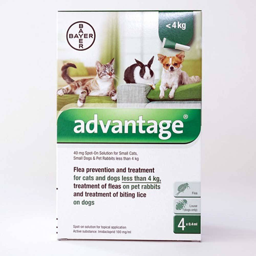 Advantage 40mg (Green) Spot-on For Small Cats, Small Dogs...